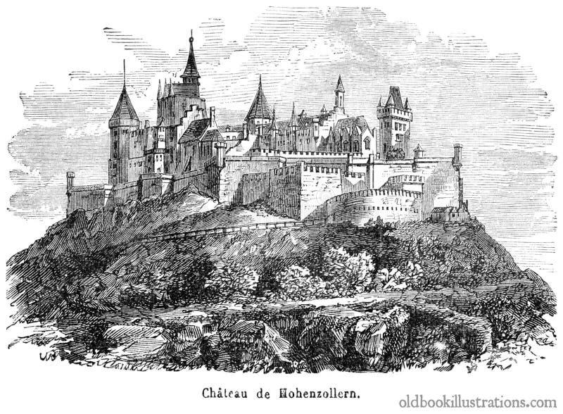Hohenzollern Castle royalty free stock photo