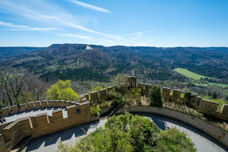Hohenzollern Castle, Germany - April 30, 2017, Hohenzollern Ca. Stle on a sunny day in Germany stock images