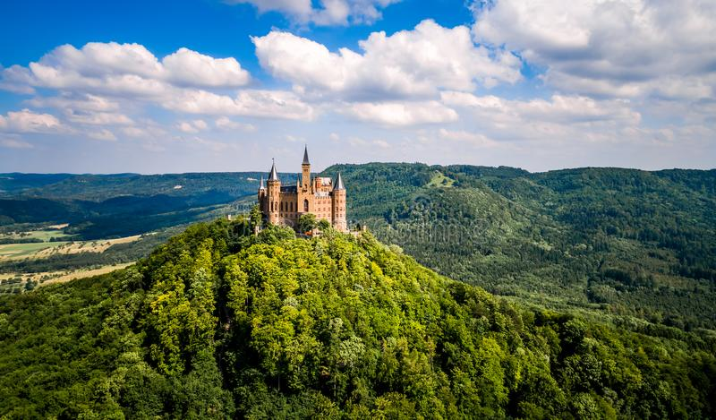 Hohenzollern Castle, Germany. Hohenzollern Castle, Germany old architecture stock images