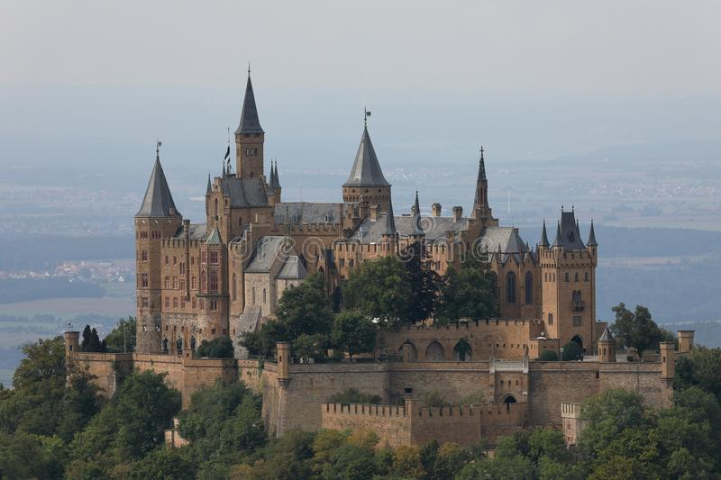 Hohenzollern castle near Hechingen in Germany. The Hohenzollern castle near Hechingen in Germany stock images