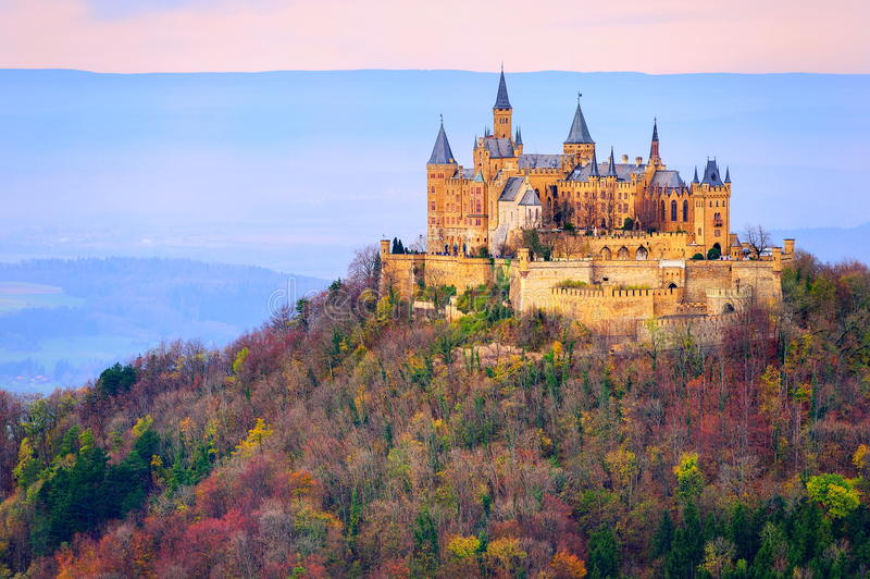 Hohenzollern castle, Stuttgart, Germany. German Kaiser's Hohenzollern castle, situated in Black Forest by Stuttgart, Germany royalty free stock photography