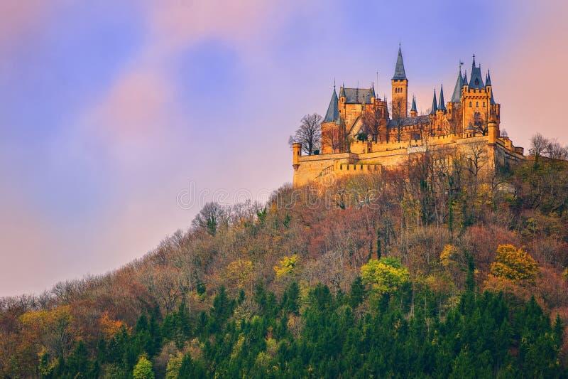 Hohenzollern castle, Stuttgart, Germany. German Kaiser's Hohenzollern castle, situated in Black Forest by Stuttgart, Germany royalty free stock photo