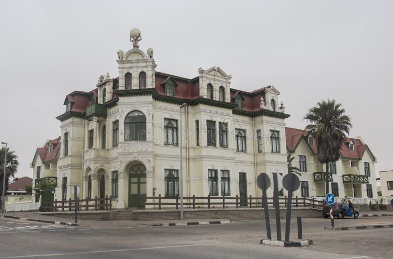 Hohenzollern hus, Swakopmund, Namibia royaltyfria bilder