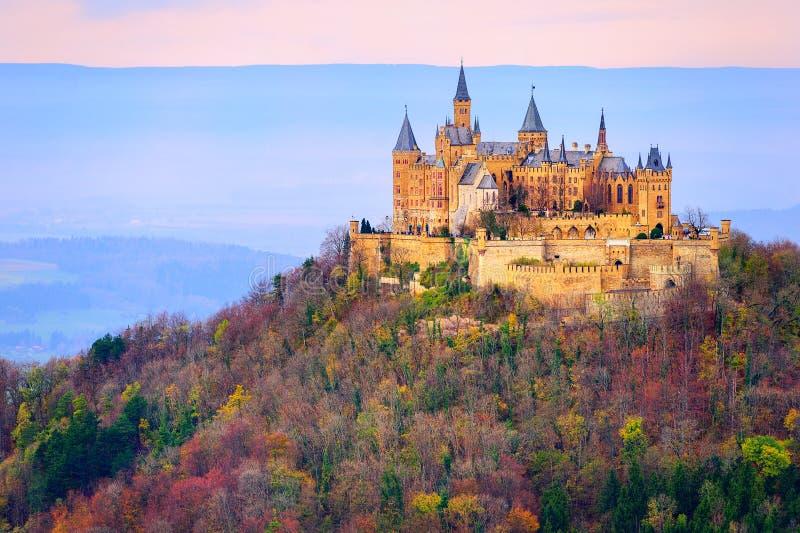 Hohenzollern slott, Stuttgart, Tyskland royaltyfri fotografi