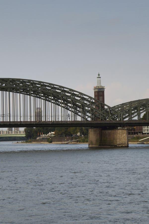 Hohenzollernbridge Cologne Allemagne le Rhin photographie stock libre de droits