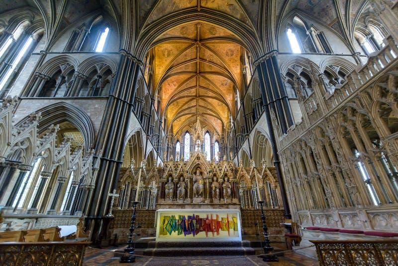 Hoher Altar und Decke in Worcester-Kathedrale stockfotografie