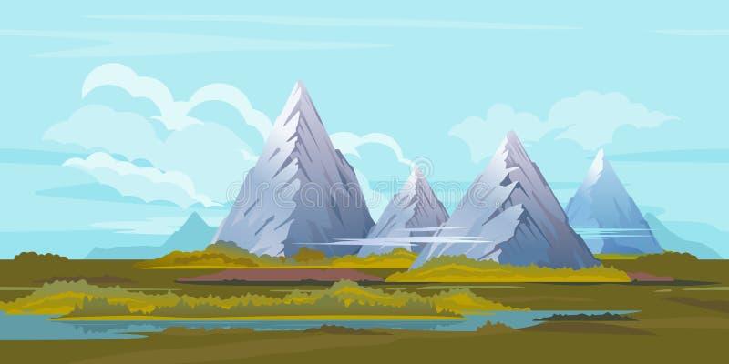 Hoher Berglandschafts-Hintergrund vektor abbildung