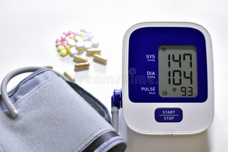 Hoher Blutdruck lizenzfreies stockfoto