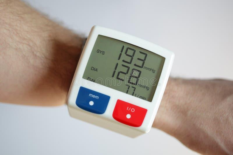 Hoher Blutdruck stockfotografie
