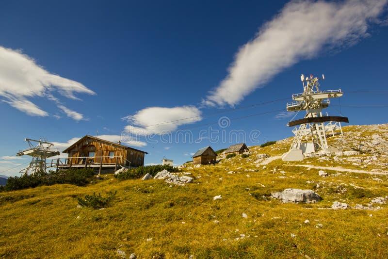 Hoher Dachstein с лыжным курортом стоковое изображение rf
