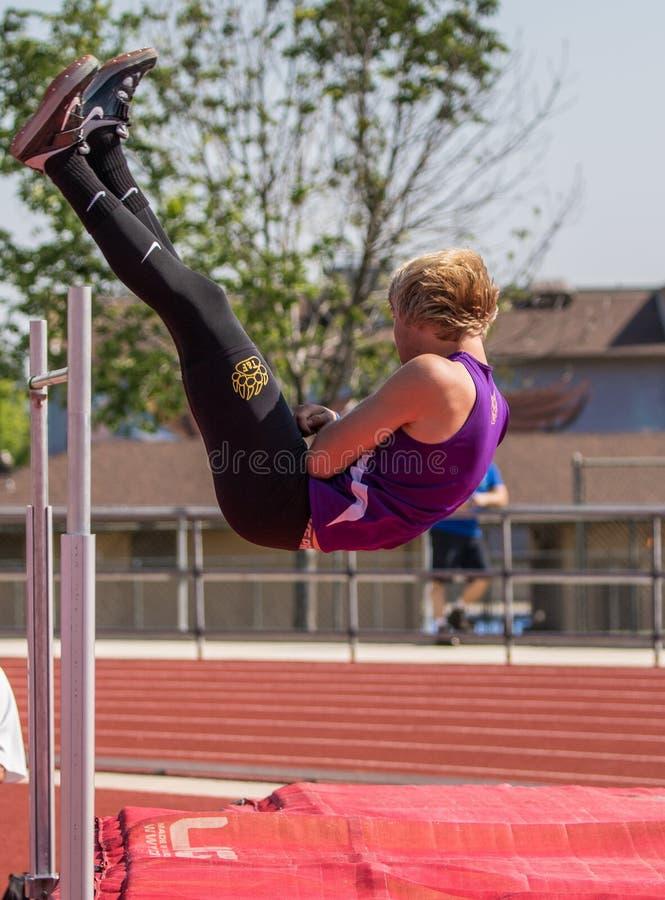 Hoher Jumper Makes es gut stockfoto