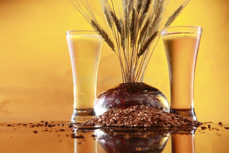 Hoher kühler Bierweizen und -gerste lizenzfreie stockfotos
