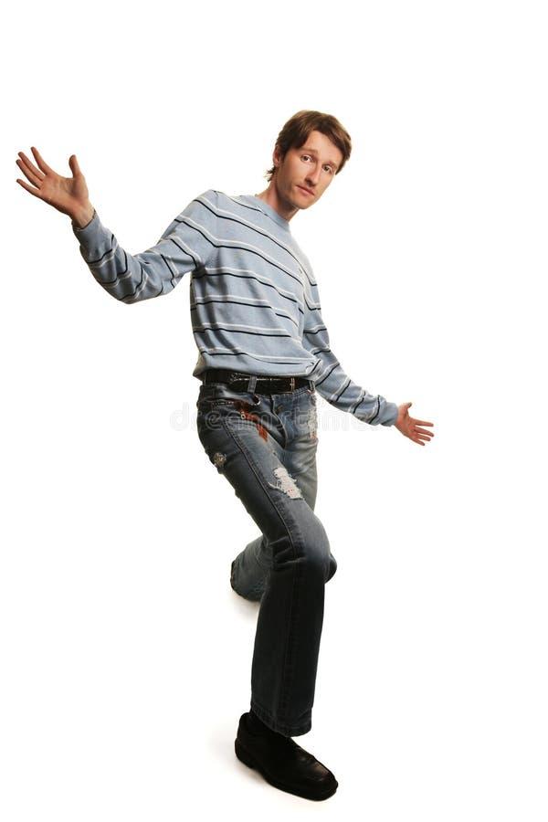 Download Hoher Mann stockfoto. Bild von glück, person, bewegung - 17927042