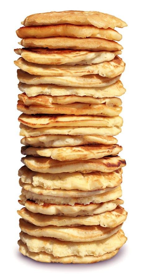 Hoher Stapel Pfannkuchen stockfotos