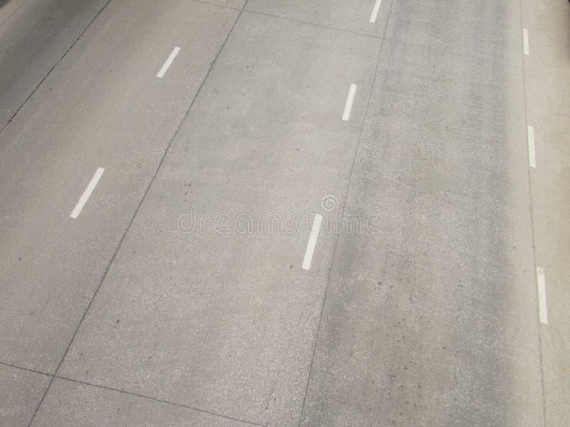 Hoher Winkel der Straße stockbilder