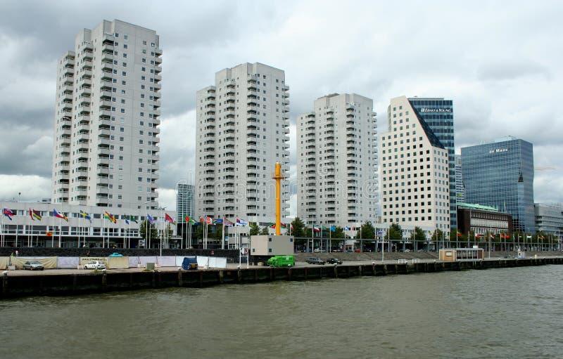 hohes Gebäude in Rotterdam stockfoto