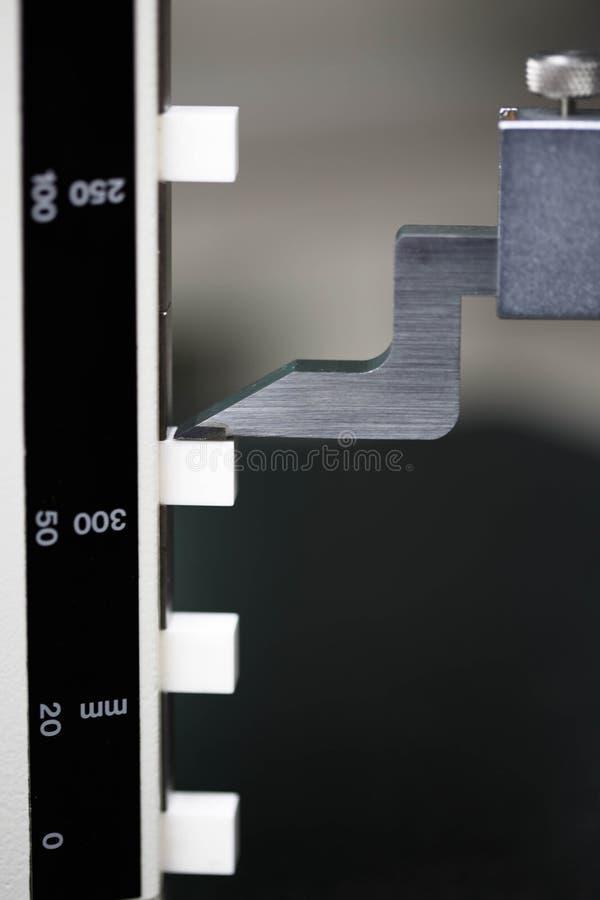 Hohes Messgerät der Kalibrierung lizenzfreies stockbild