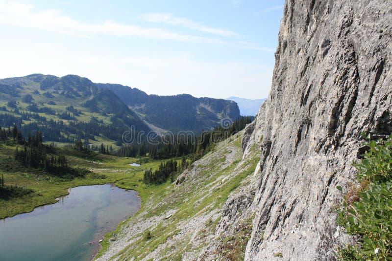 Hohes Mountainsee u. blauer Himmel lizenzfreies stockbild