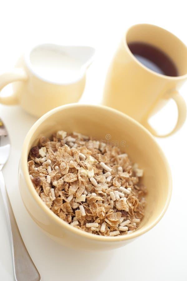 Hohes Schlüsselbild eines gesunden Frühstücks stockfotografie