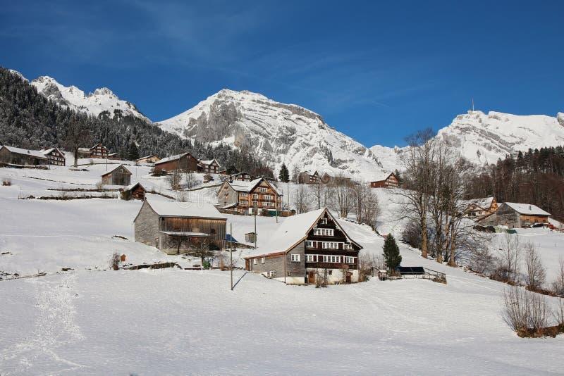hohfluh ледника брига bettmeralp alps aletsch над швейцарской зимой wallis взгляда Швейцарии valais стоковая фотография