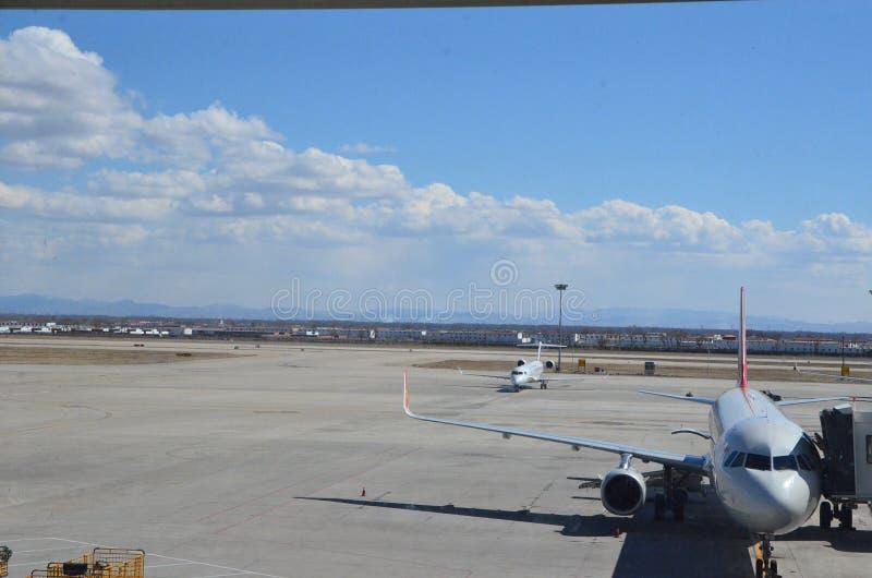 Hohhot Baita flygplats royaltyfria bilder