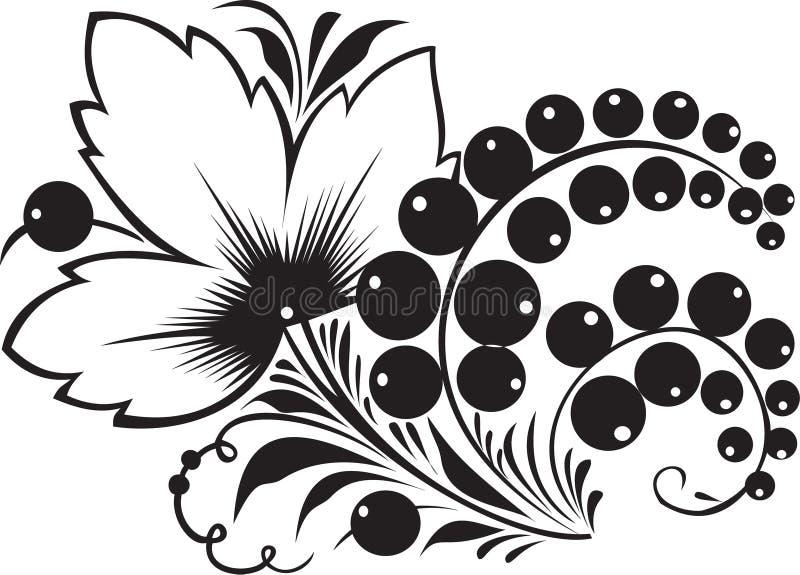 hohloma装饰品俄国传统 库存例证