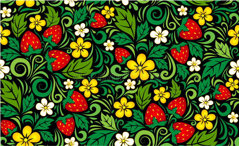 Hohloma pattern background royalty free illustration