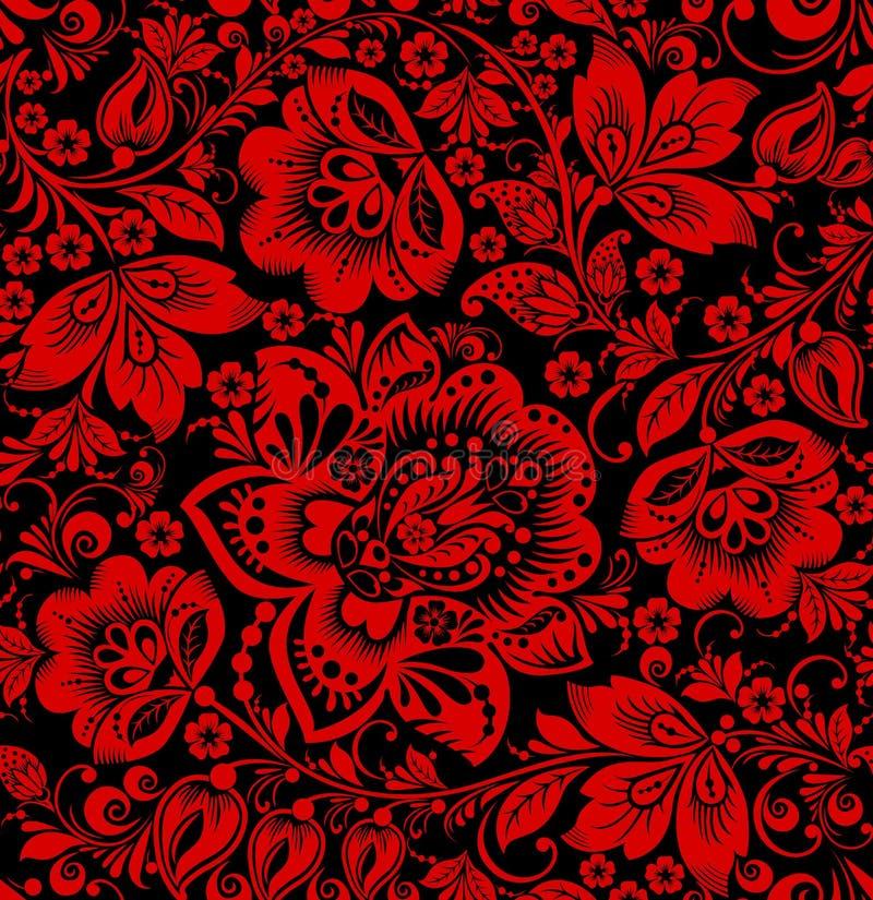 Hohloma seamless pattern vector illustration