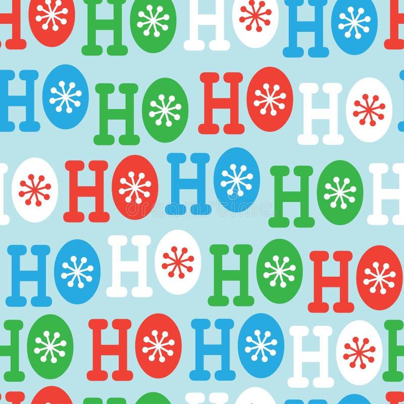 Hohoho naadloos patroon Het ontwerp van het Kerstmispatroon stock illustratie