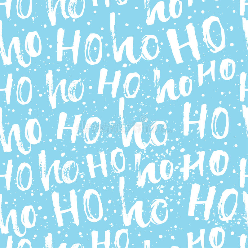 Hohoho pattern, Santa Claus laugh. Seamless texture for Christmas design. royalty free illustration