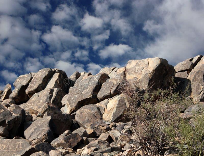 Download Hohokam rock art stock photo. Image of black, national - 23331540