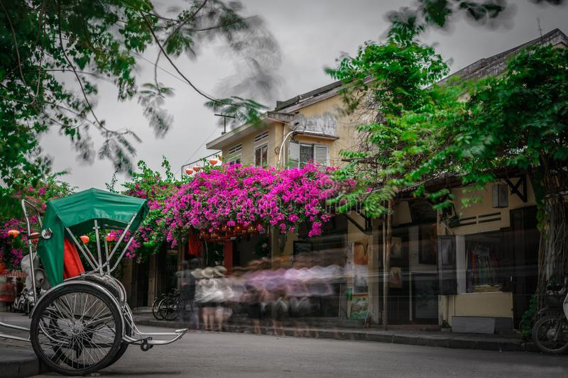 Hoi an ancient city in vietnam stock image