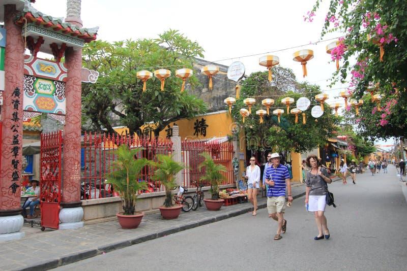 Hoi An Ancient Town em Vietname fotografia de stock