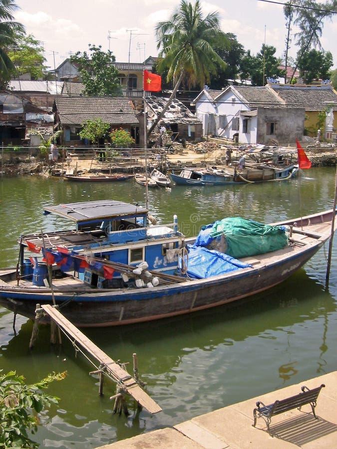 Free Hoi Anh River Boat Vietnam Royalty Free Stock Photos - 234488