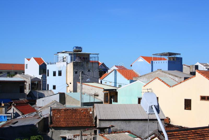 Hoi constructions d'une ville photographie stock