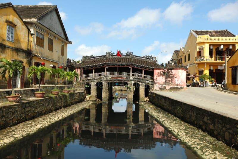 Hoi eine japanische Brückenerbsite durch UNESCO, Vietnam lizenzfreie stockbilder