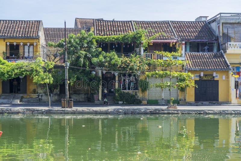 Hoi en forntida Town Quang Nam landskap, Vietnam royaltyfria foton