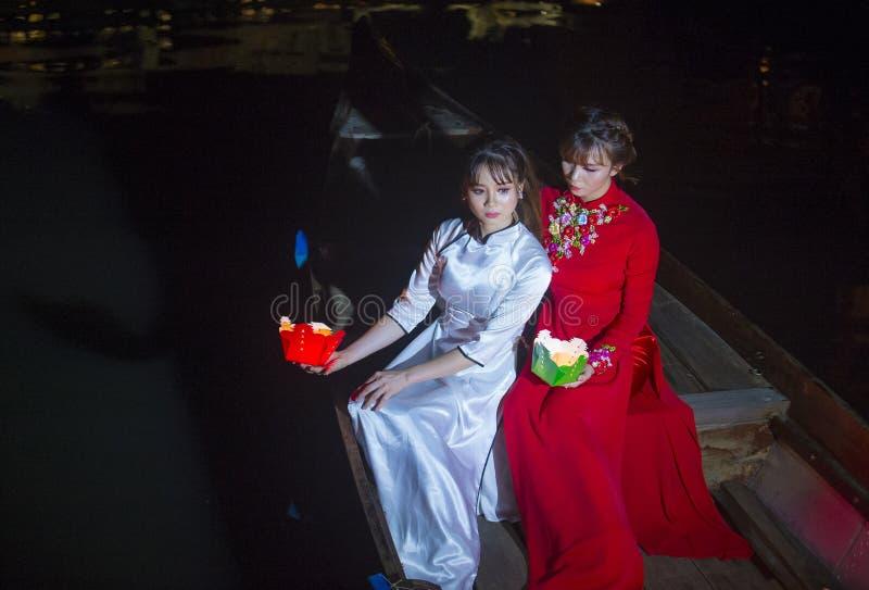 Hoi księżyc w pełni Latarniowy festiwal zdjęcie royalty free