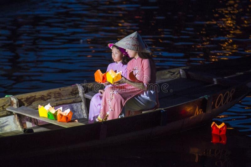 Hoi księżyc w pełni Latarniowy festiwal obraz royalty free