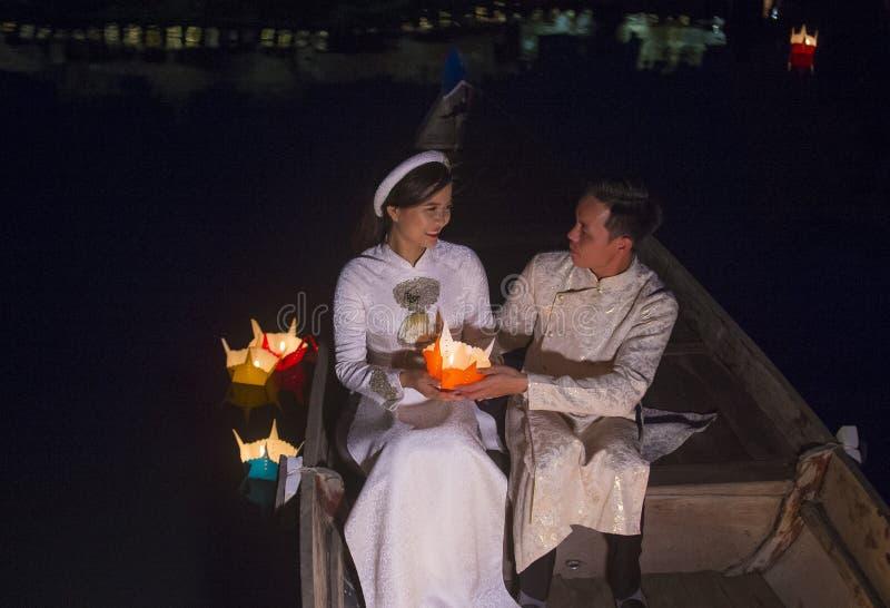 Hoi księżyc w pełni Latarniowy festiwal obraz stock