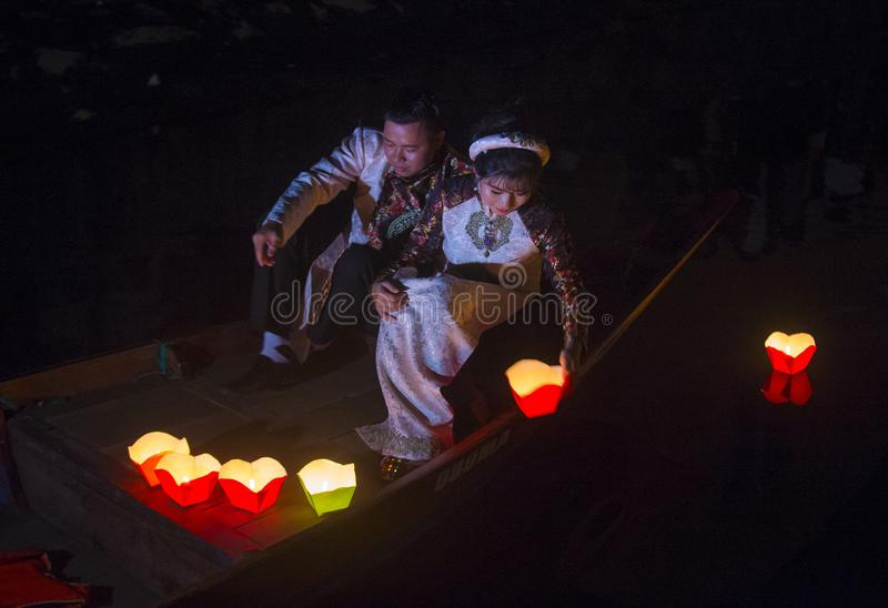 Hoi księżyc w pełni Latarniowy festiwal fotografia stock