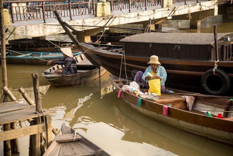Hoi An - la ciudad de linternas chinas foto de archivo