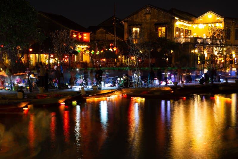 Hoi An Lantern Festival - 2016 imagem de stock