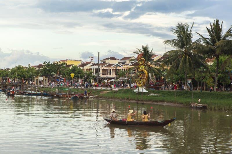 Hoi An Old Street i Vietnam royaltyfri fotografi