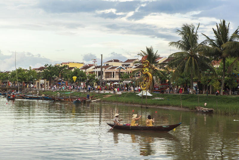 Hoi An Old Street in Vietnam royalty-vrije stock fotografie
