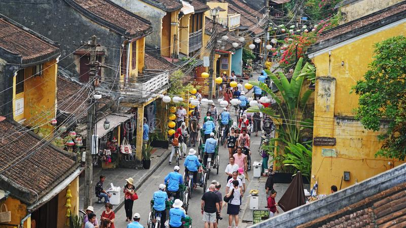 Hoi An Old Town - locais do patrimônio mundial do UNESCO em Hoi A imagem de stock