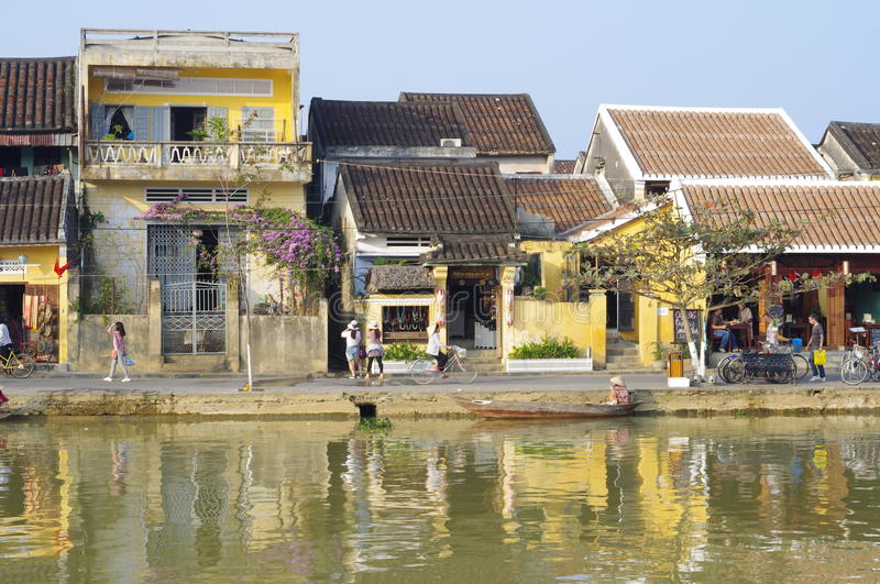 Hoi An, oude stad in Vietnam royalty-vrije stock foto