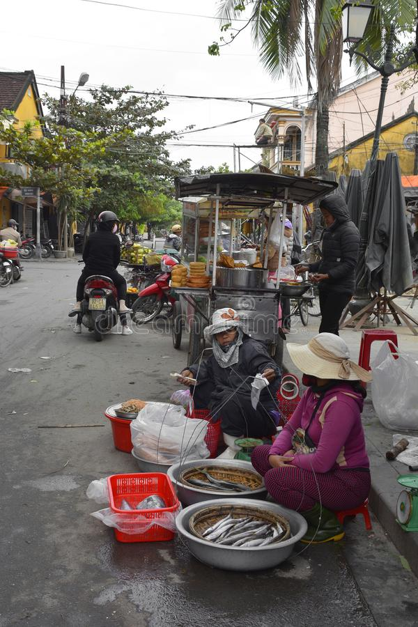 Hoi An Outdoor Market photos stock
