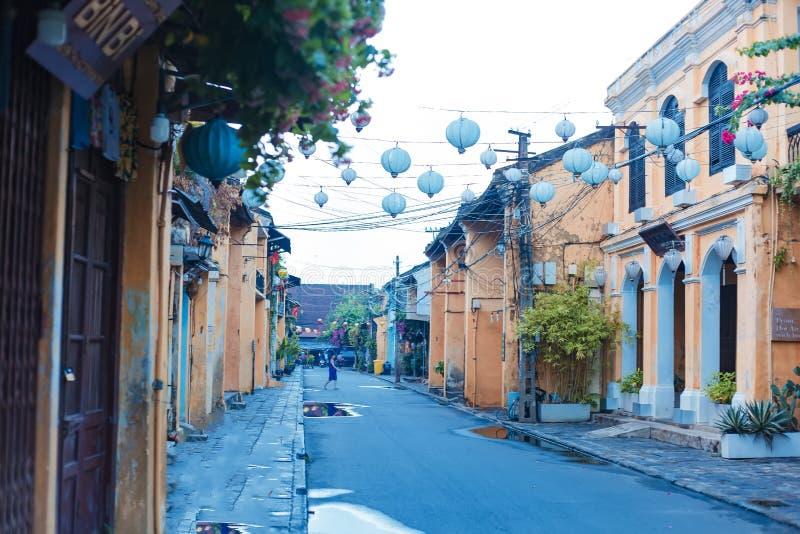 HOI, QUANG NAM, VIETNAME, O 20 DE SETEMBRO DE 2018: Cidade antiga de Hoi An da visita dos turistas Hoi An é um destino popular do imagens de stock royalty free