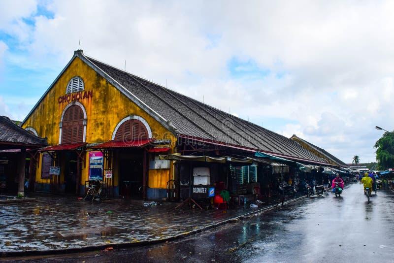 Hoi rynek Widok Hoi dziejowy miasteczko, Wietnam zdjęcie royalty free